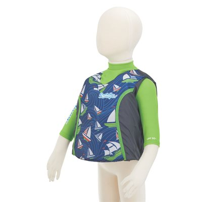 Stearns 2-IN-1 Vest & Rashguard Sailboat (UPF 50+ Sun Protection)