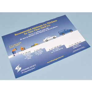 "Ice Thickness Posters - size 11""x 17"" (pkg. 10)"