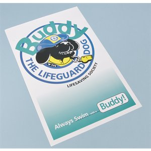 "Buddy The Lifeguard Dog Poster - size 11"" x 17"" (pkg. 10)"