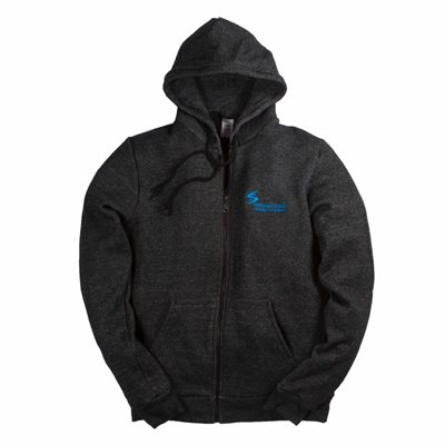 Lifesaving Society's Full Zip Hooded Sweatshirt-Marled Black (XS)