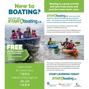 Start Boating Tip Card - English