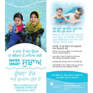 Water Smart Tip Card / Parents with children under 5 - Punjabi - Pkg - 100